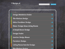 Tablet Preview of 17design.nl